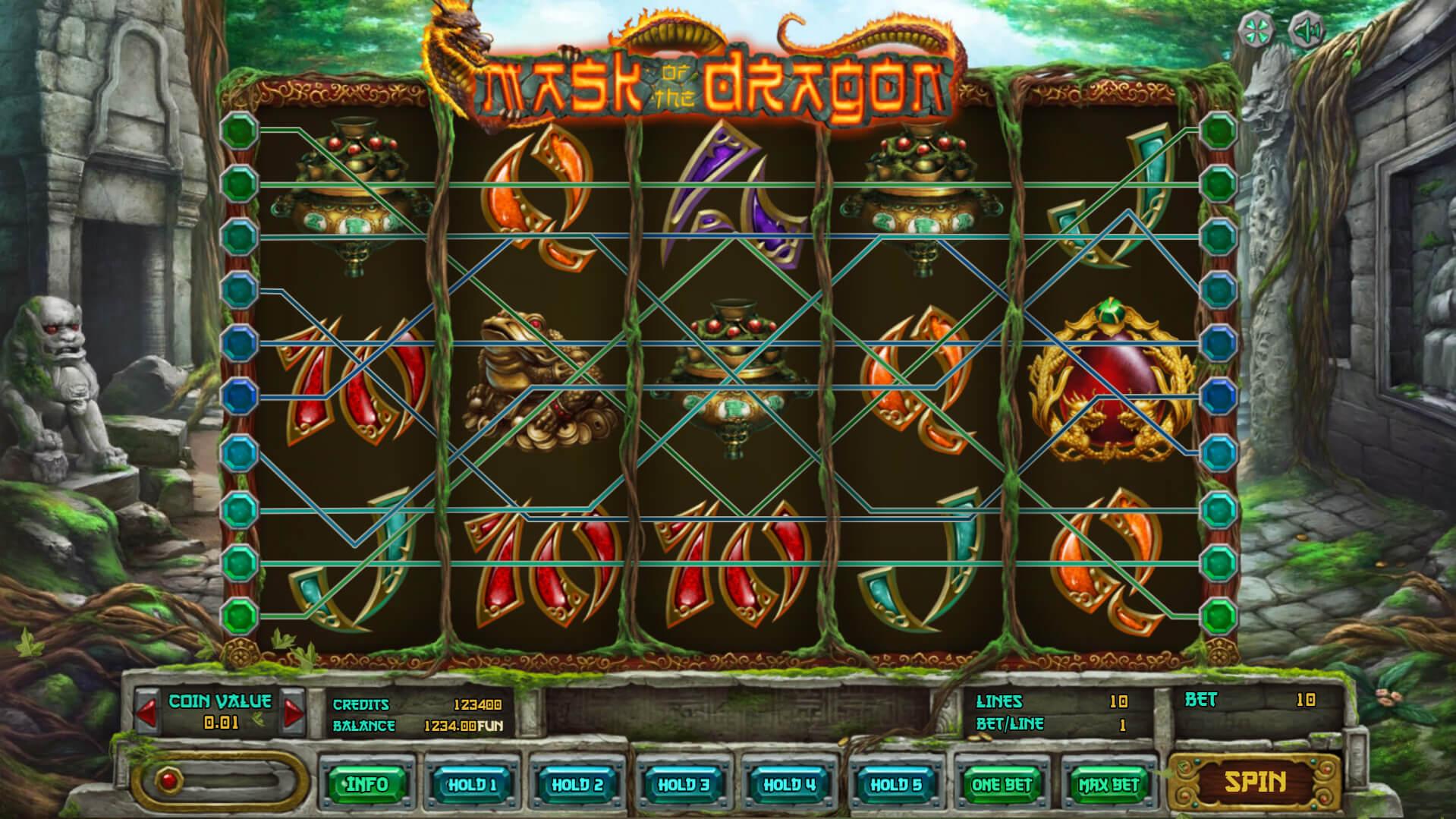 Изображение игрового автомата Mask of The Dragon 2