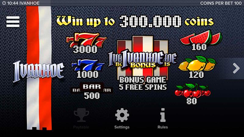 Изображение игрового автомата Ivanhoe 2