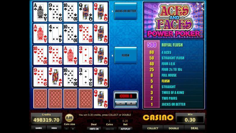 Изображение игрового автомата Aces and Faces 4-Hand Poker 3