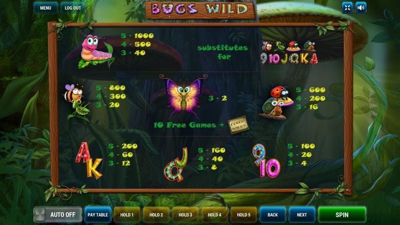 Изображение игрового автомата Bugs Wild 3