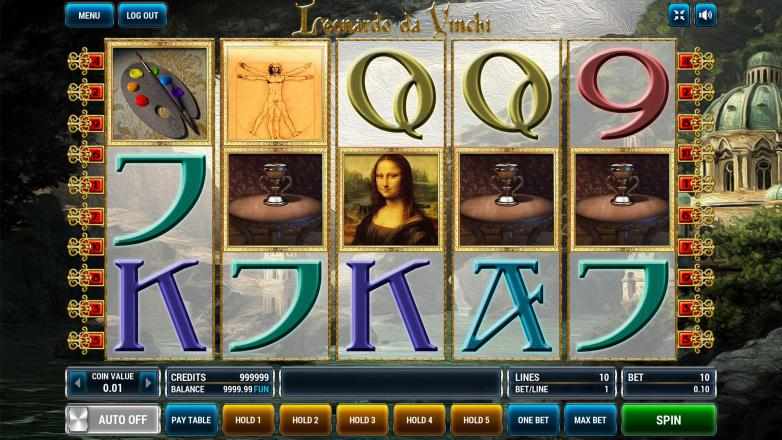 Изображение игрового автомата Leonardo Da Vinchi 2