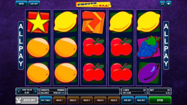 Изображение игрового автомата Fruits For All 1