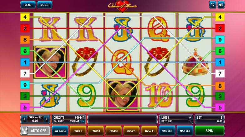 Изображение игрового автомата Queen of Hearts 1